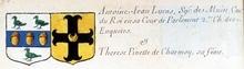 VOLUMES RELIES du Cabinet des titres : recherches de noblesse, armoriaux, preuves, histoires généalogiques. Armorial général de France, dressé, en vertu de l'édit de 1696, parCharles D'HOZIER. (1697-1709). XXIV Paris, II. page 1078
